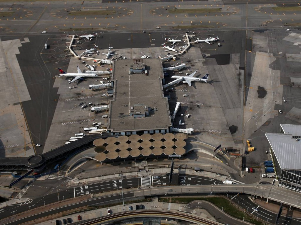 A Plane's Perspective Of John F. Kennedy Airport, New York, New York United States