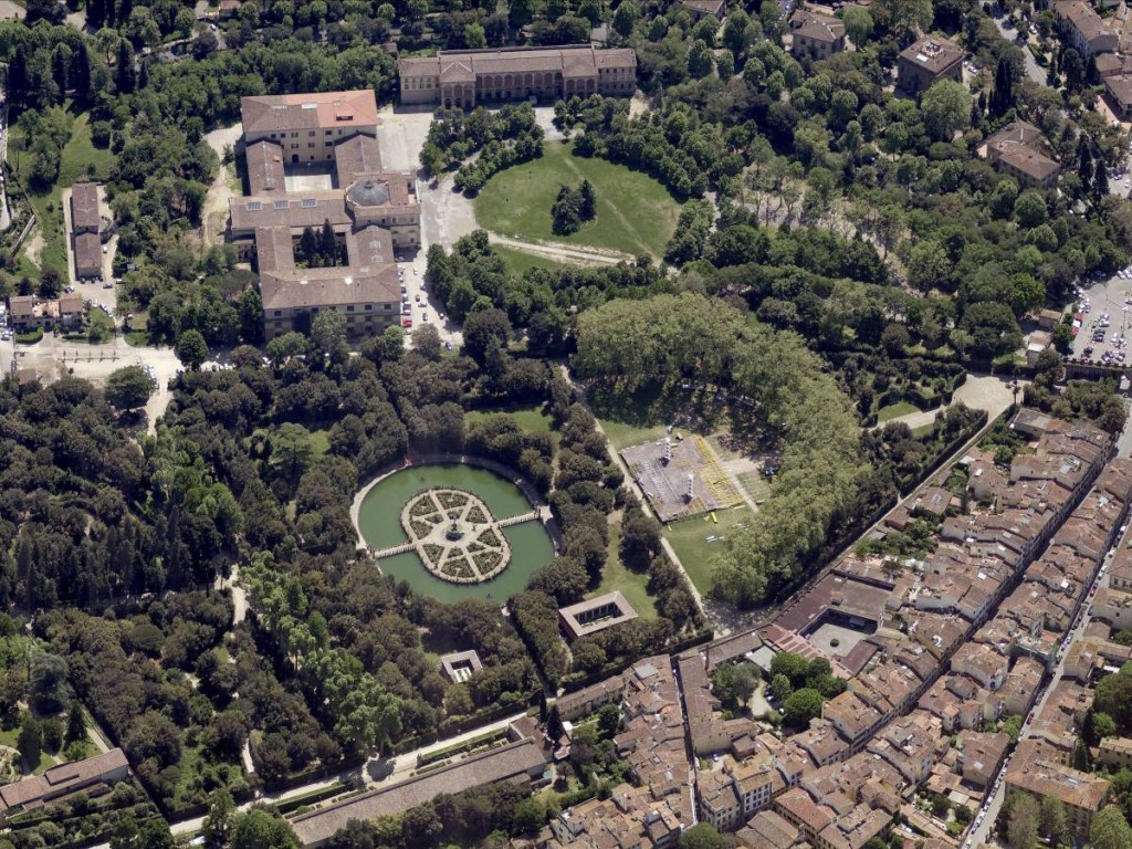 Aerial View Of The Boboli Gardens, Florence, Italy