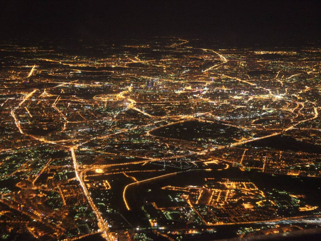 Aerial View Of The Moscow Lights, Russia