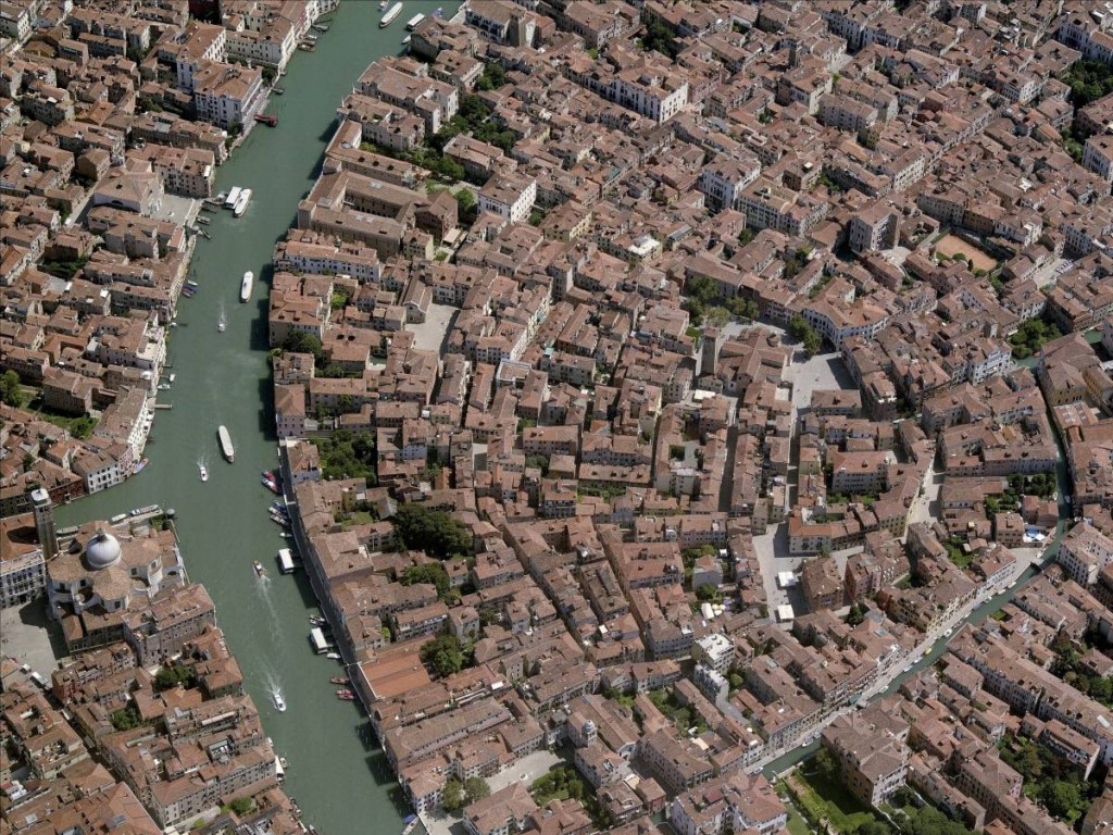 Aerial View Of Venice Grand Canal, Venezia
