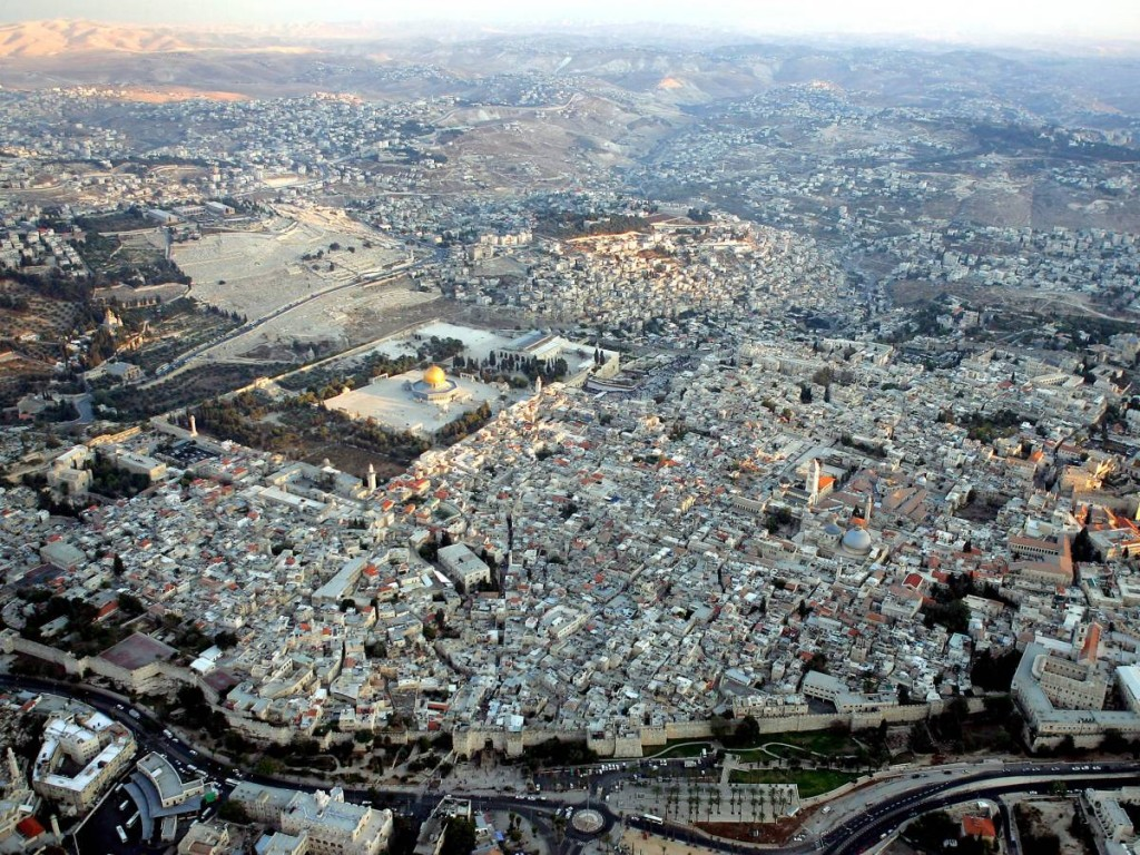 Aerial Views Of Jerusalem's Old City, Israel