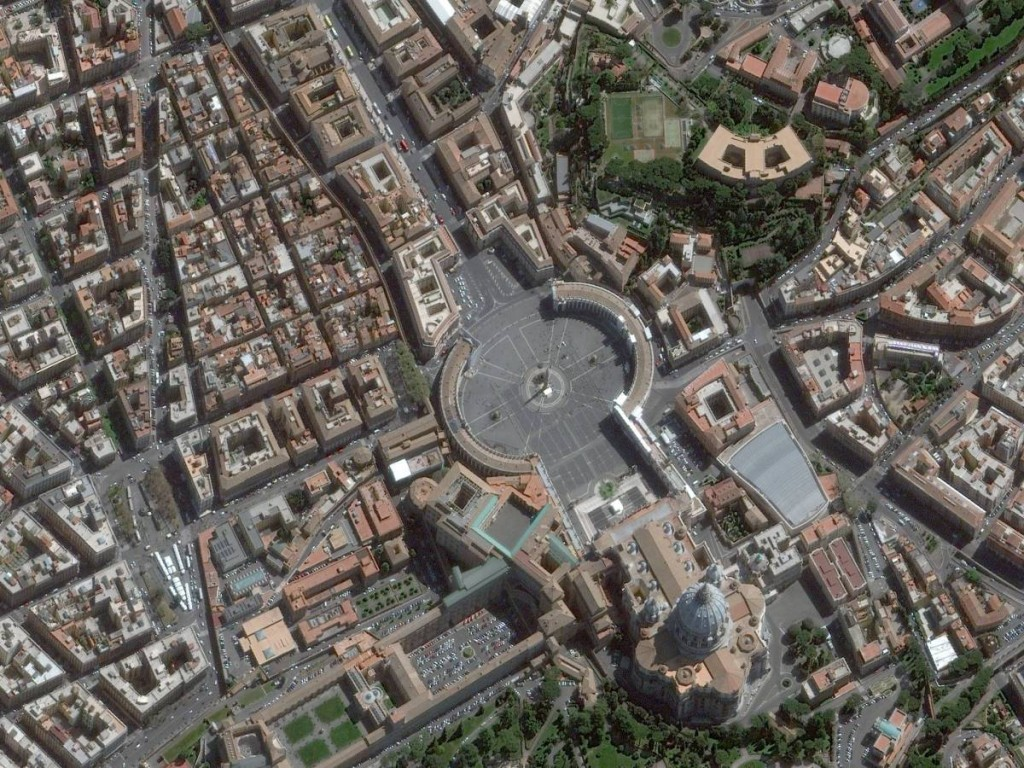 Flying Above Vatican City, Rome, Italy