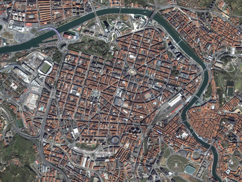 Global View Of Bilbao, Biscay, Spain