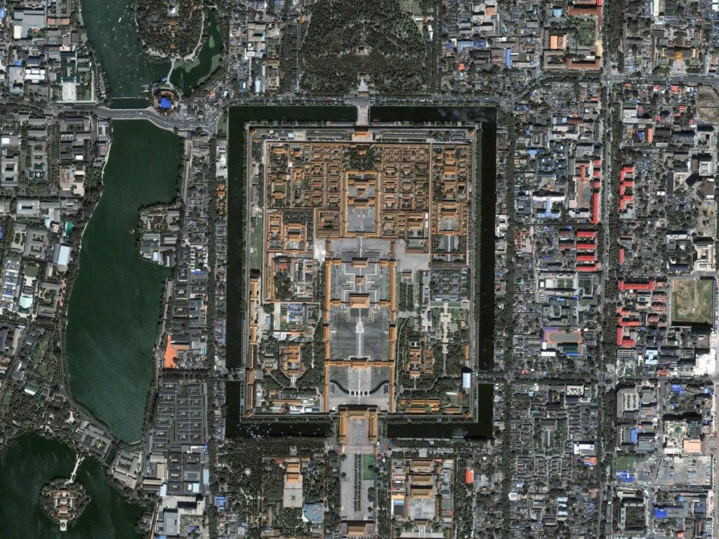 Satellite Image Of The Forbidden City, Beijing, China